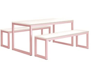Vita Table & Bench Set | Pastel Violet