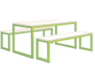 Vita Table & Bench Set | Tangy Green