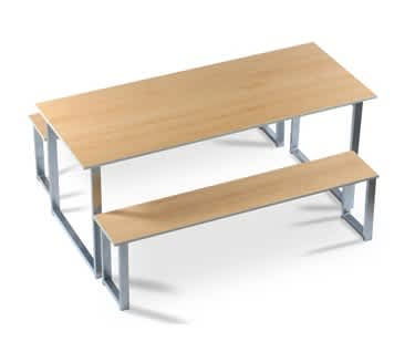 Gigi Table & Bench Set (2400mm)