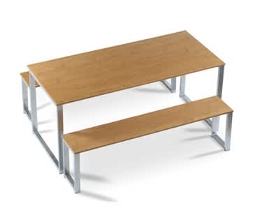 Gigi Table & Bench Set (1200mm)