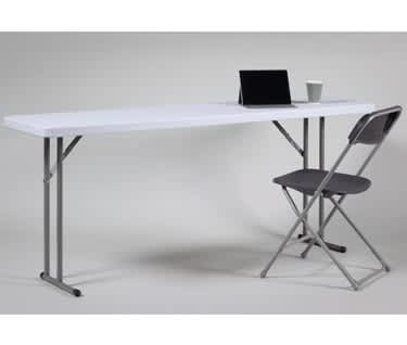 Skinny Plastic Folding Table | L1830 x W450mm