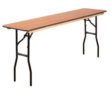 "Skinny Rectangular Wooden Trestle Table, 1830 x 460mm (6' x 1'6"")"