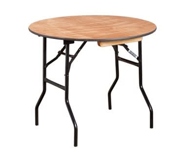 Round Wooden Folding Trestle Table | Dia910mm (3')