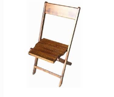 Julietta Rustic Wooden Folding Chair - Distressed Oak Finish