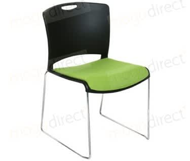 Jasper Contemporary Padded Stacking Chair