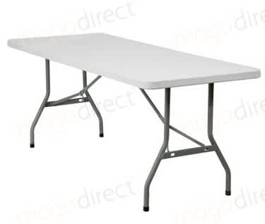"Mogo Basic Plastic Folding Trestle Table, L1830mm x W760mm (6 'x 2'6"")"