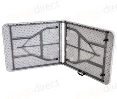Mogo Basic Centre Folding Plastic Trestle Table, L1800mm x W750mm x H740mm