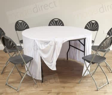 Mogo Round Table Cloth | White, Dia1530mm