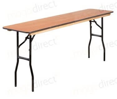 "Mogo Skinny Rectangular Wooden Trestle Table, 1830 x 460mm (6' x 1'6"")"