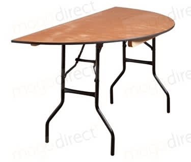 Mogo Semi-Circular Wooden Trestle Table | Dia1530mm (5')