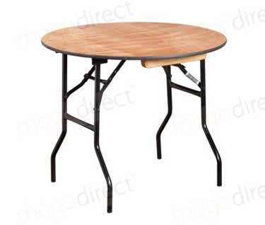 Mogo Round Wooden Trestle Table | Dia910mm (3')