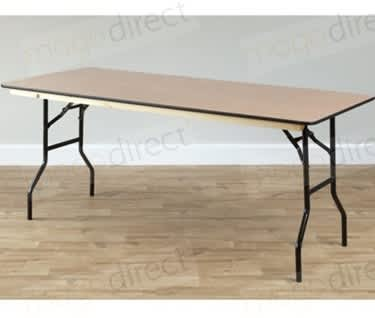 "Mogo Rectangular Wooden Trestle Table | 1530mm x 760mm (5' x 2'6"")"