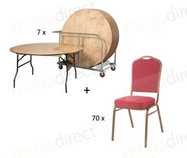 Mogo Starlite 75 Banqueting Bundle | Trestle Tables & Banqueting Chairs