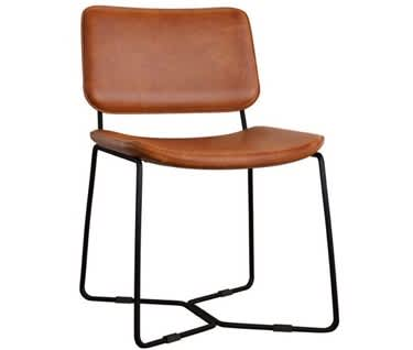 Milazzo Retro Dining Chair – Bruciato Leather