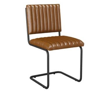 Bergamo Vintage Side Chair – Bruciato Leather