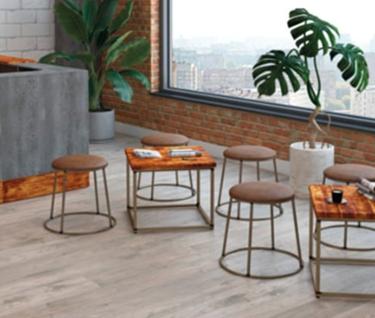 Dalmine Rustic Pine Square Coffee Table | L600mm x W600mm