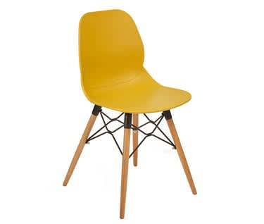 Momo Contemporary Chair | Wooden 4 Leg