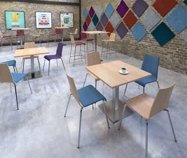 Brescia Square Café & Dining Table | Flat Square Base