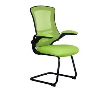 Lyra Designer Mesh Cantilever Chair | Black Shell