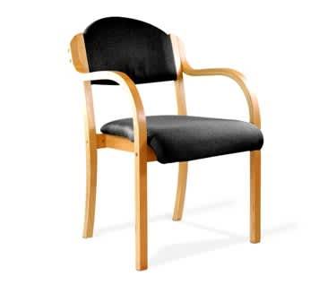 Durham Beech Framed Stackable Arm Chair