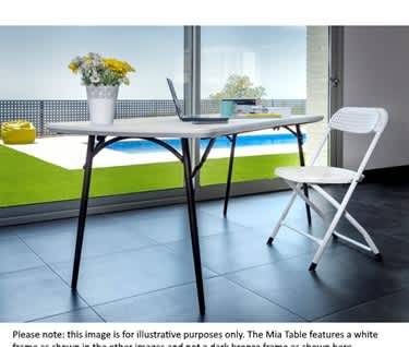 "Mia 6ft Plastic Folding Table | Fold-in-Half | L1830 x W760mm (6' x 2' 6"")"