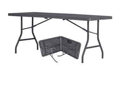 Centre Fold Rectangle Plastic Folding Table  | 6ft x 2ft 6in (1830 x 760mm)| New Zown Classic