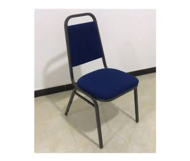 Essential Banqueting Chair | Blue Fabric | Silver [Black] Steel Frame