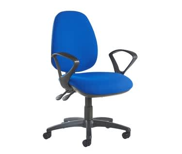Jota High Back Operator Chair with Fixed Arms | Made to Order
