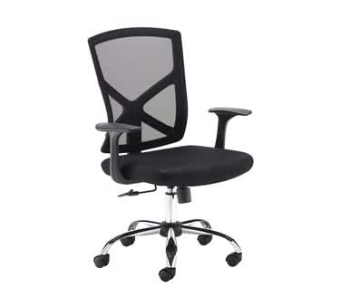 Hale Black Mesh Back Operator Chair
