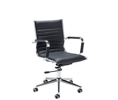 Bari Medium Back Faux Leather Executive Chair