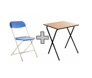 Classic Independent Study Bundle | Folding Table & Chair
