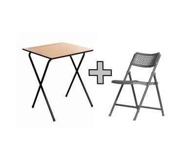 Aran Independent Study Bundle | Folding Table & Chair