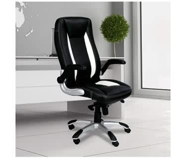 Friesian High Back Gaming Style Chair with Brushed Satin Finish Base