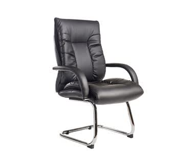 Derby High Back Executive Cantilever Chair | Black Faux Leather
