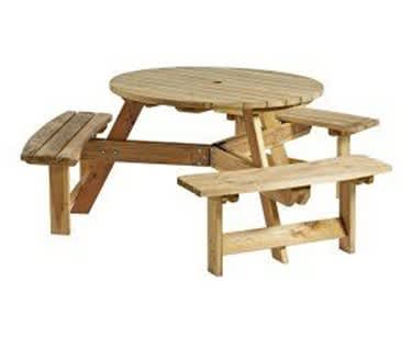 Corfu Picnic Table and Bench