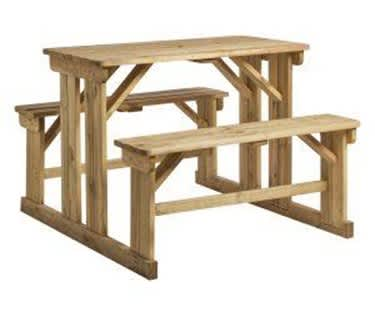 Athens Walk-In Poseur Picnic Table and Bench