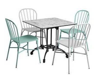 Santorini Alfresco Patio and Garden Dining Bundle | Table & 4 Chairs