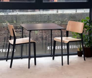 In-Out Square Cafe & Dining Table |Black