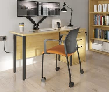 Detroit Desk with H-Frame