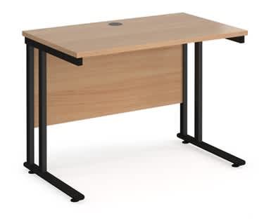 Detroit Straight Desk with Cantilever Frame