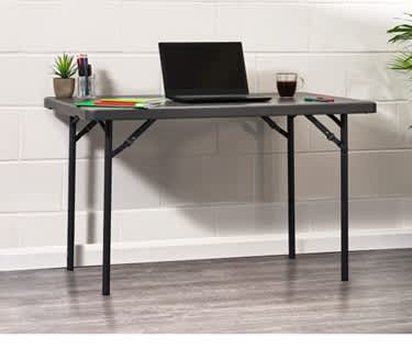 Rectangle Plastic Folding Table | 4ft x 2ft (1220 x 600mm) | L120 New Zown Classic