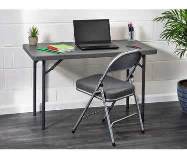 Deluxe Work from Home Mini Bundle | Folding Table & Chair
