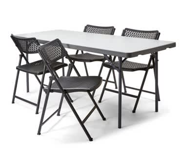 Folding Table & Chair Bundle | 6ft Table & 4 Aran Chairs