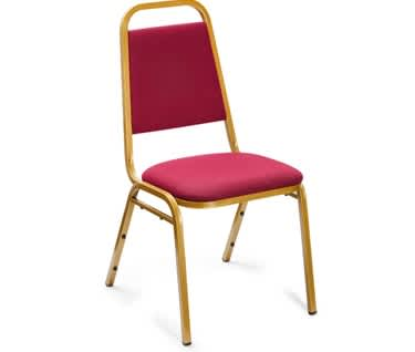 Essential Banqueting Chair | Burgundy Fabric | Gold Steel Frame