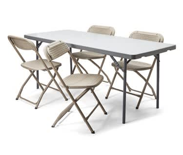 Folding Table & Chair Bundle | 6ft Table & 4 BigClassic Chairs