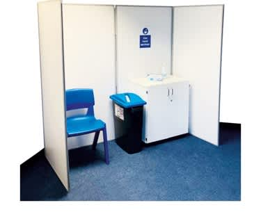 Wipeable Folding Privacy Booth | Fast Delivery