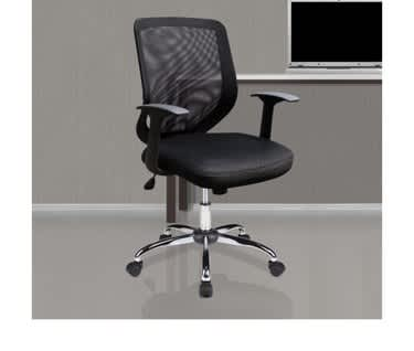 Ranger Mesh Back Task Operator Armchair with Chrome Base | Black