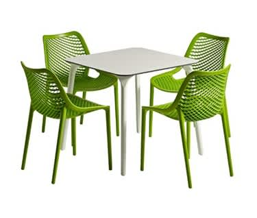 Marbella Outdoor Dining Set   Square Table