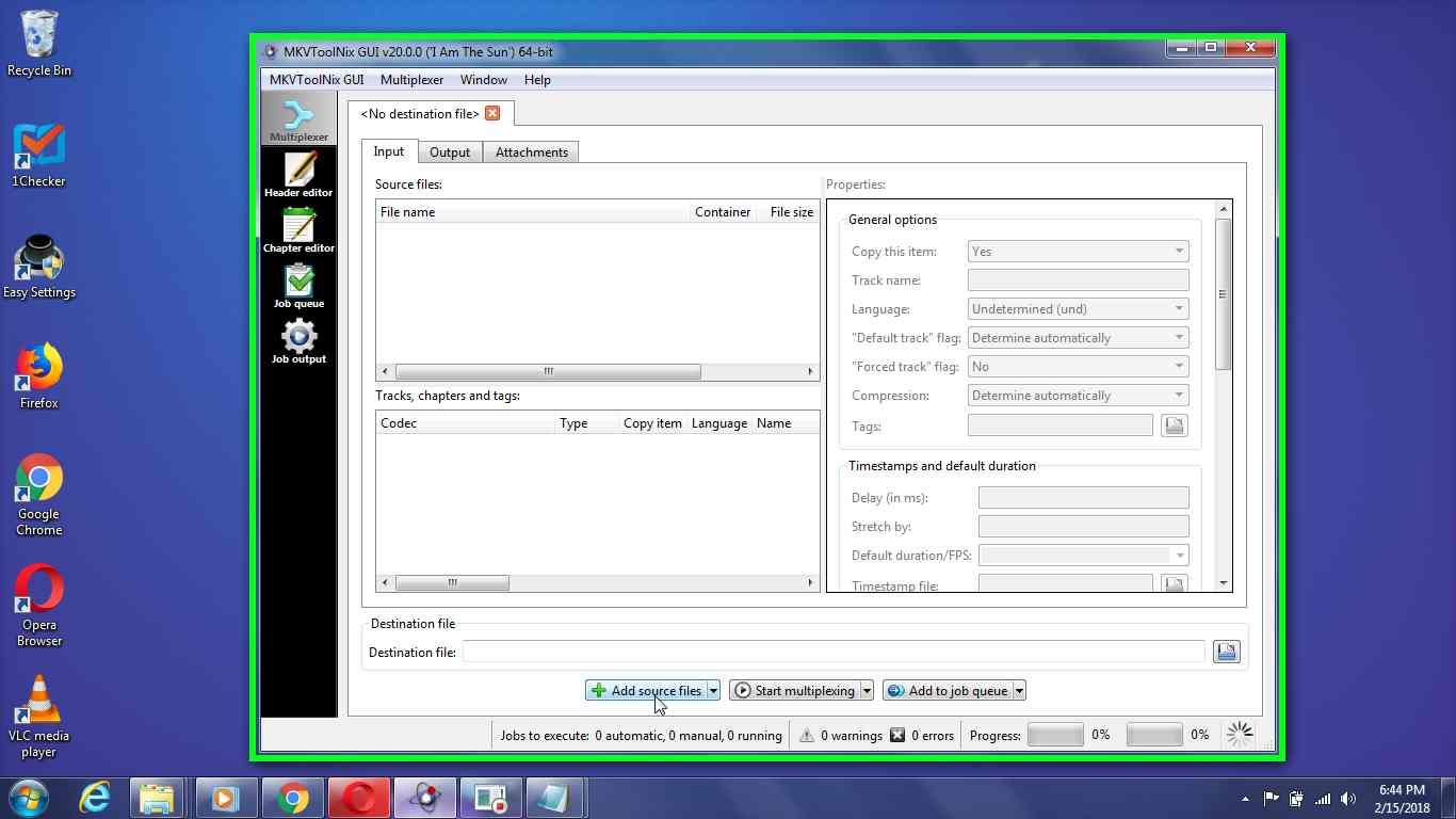 """User left click on """"Add source files Alt+A (menu button)"""" in """"MKVToolNix GUI v20.0.0 ('I Am The Sun') 64-bit"""""""