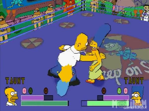 simpsons wrestling oyunu simpsons oyunu molinom